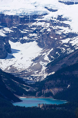 Looking Down At Lake Louise #2 Poster