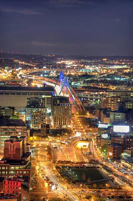 Looking Down -  Boston Skyline Aerial Poster by Joann Vitali