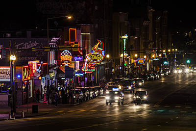 Looking Down Broadway In Nashville Poster by John McGraw