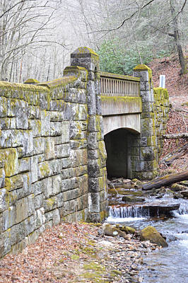Looking Glass Creek Bridge - Vertical Poster