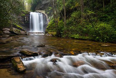 Looking Glass Falls - Blue Ridge Waterfalls Brevard Nc Poster by Dave Allen