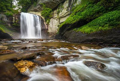 Looking Glass Falls - North Carolina Blue Ridge Waterfalls Wnc Poster by Dave Allen