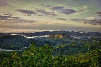 Sunrise On Looking Glass Rock Blue Ridge Parkway Poster by Reid Callaway