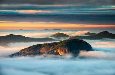 Looking Glass Rock Blue Ridge Parkway Nc Western North Carolina Poster by Dave Allen