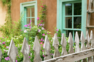 Looking Into A Garden Of A House, Taos Poster