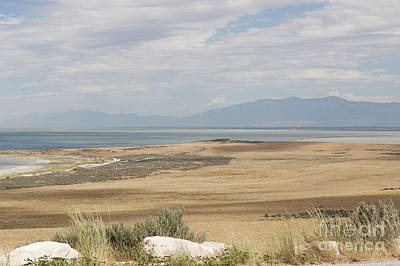 Poster featuring the photograph Looking North From Antelope Island by Belinda Greb