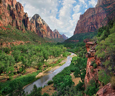 Looking Out Into The Zion Canyon Poster