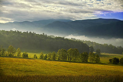 Looking Out Over Cades Cove Poster by Andrew Soundarajan