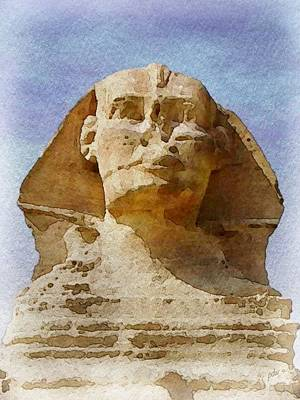 Looking Straight At The Sphinx Poster by Philip White