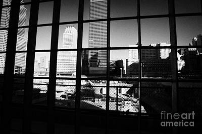 Looking Through The Metal Fence Down Onto The World Trade Center Reconstruction Site Ground Zero Poster by Joe Fox
