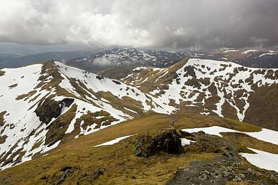 Looking Towards Beinn Ghlas Poster by Ashley Cooper