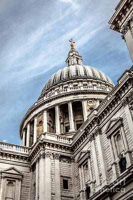 Looking Up At The Dome Of Saint Pauls Cathedral In London Poster