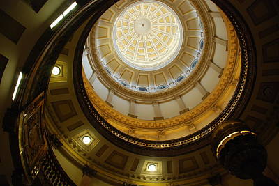 Poster featuring the photograph Looking Up The Capitol Dome - Denver by Dany Lison