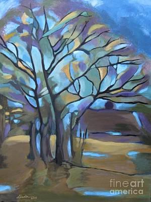 Looks Like Mondrian's Tree Poster
