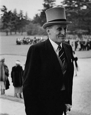 Lord Burghley Wearing A Suit And Top Hat Poster by Toni Frissell