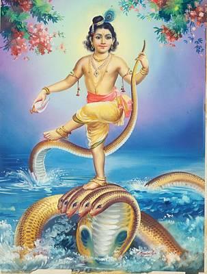 Lord Krishna Poster by R Vijayann