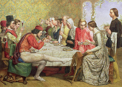 Lorenzo And Isabella Wc On Paper Poster by Sir John Everett Millais