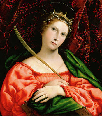 Lorenzo Lotto, Saint Catherine, Italian Poster