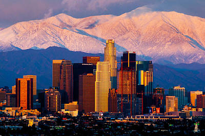 Los Angeles In Winter Poster