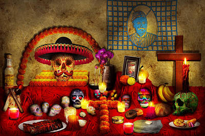 Los Dios Muertos - Rembering Loved Ones Poster by Mike Savad