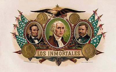 Los Inmortales Cigar Box Label Poster