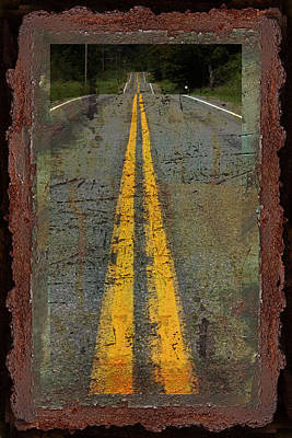 The Road Goes On Forever Poster by John Stephens