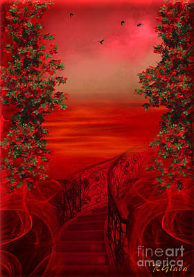 Lost In Red - Surreal Art By Giada Rossi Poster by Giada Rossi