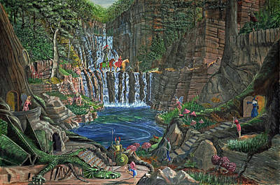 Poster featuring the painting Lost In The Magic Forest by Anthony Lyon