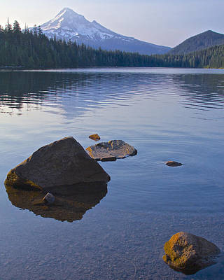 Poster featuring the photograph Lost Lake Morning 81014 by Todd Kreuter