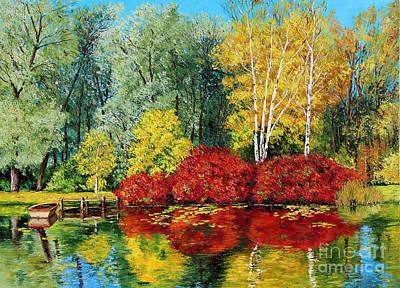 Autumn Pond Poster by Jean-Marc Janiaczyk