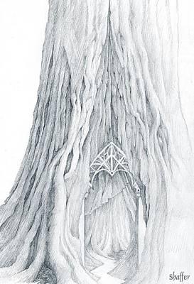 Lothlorien Mallorn Tree Poster