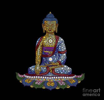 Lotus Buddha Poster