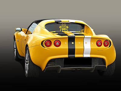 Lotus Elise In Yellow Poster by Gill Billington