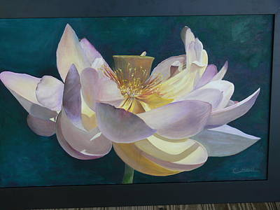 Poster featuring the painting Lotus Flower by Catherine Hamill