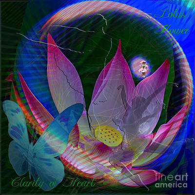 Lotus Flower Energy Poster