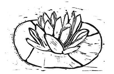 Lotus Poster by Lynn-Marie Gildersleeve