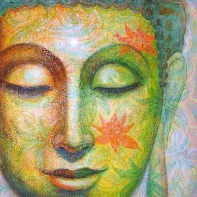 Lotus Meditation Buddha Poster by Sue Halstenberg