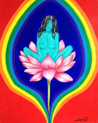 Lotus Meditation Poster by Karen Tucker