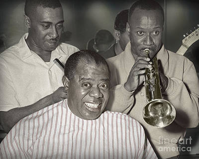 Louie Armstrong Haircut 1961 Poster