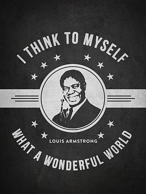 Louis Armstrong - Dark Poster by Aged Pixel