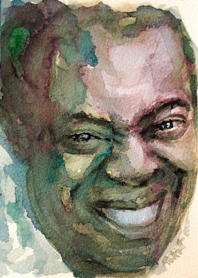 Poster featuring the painting Louis Armstrong by Laur Iduc