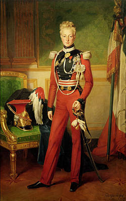 Louis-charles-philippe Of Orleans 1814-96 Duke Of Nemours, 1833 Oil On Canvas Poster by Anton van Ysendyck