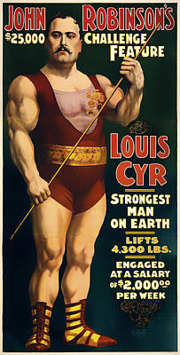 Louis Cyr - Strongest Man On Earth Poster
