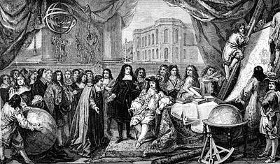 Louis Xiv At Opening Of Paris Observatory Poster by Collection Abecasis
