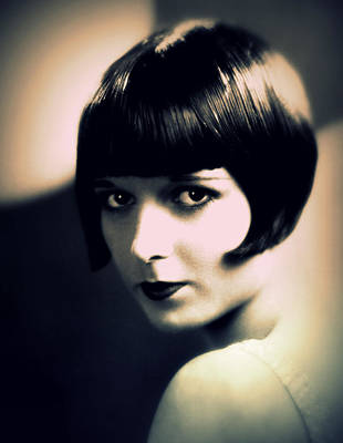 Louise Brooks Portrait Poster by Rosie Mills