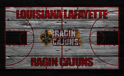 Louisiana Lafayette Ragin Cajuns Poster by Joe Hamilton