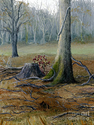 Louisiana Winter Landscape From An Oil Painting Poster