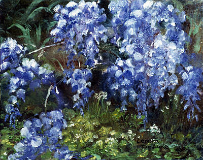 Poster featuring the painting Louisiana Wisteria by Lenora  De Lude