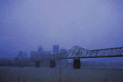Louisville Kentucky Skyline Digital Painting Poster