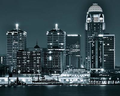 Louisville Lights Poster by Frozen in Time Fine Art Photography